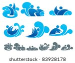 vector collection of water... | Shutterstock .eps vector #83928178