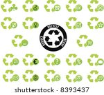 recycle what is left icon set | Shutterstock .eps vector #8393437