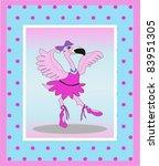 flamingo girl ballerina | Shutterstock . vector #83951305
