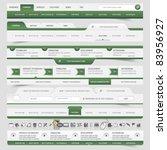 web site navigation elements | Shutterstock .eps vector #83956927
