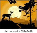 landscape background. deer on...   Shutterstock .eps vector #83967418