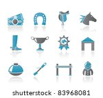 horse racing and gambling icons ... | Shutterstock .eps vector #83968081
