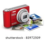 Digital Camera Image On White...