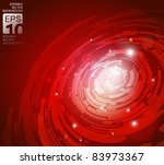 abstract high tech red vector background - stock vector