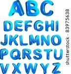 3d ice set alphabet. vector... | Shutterstock .eps vector #83975638