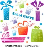 set of colorful gifts  icons  ... | Shutterstock .eps vector #83982841