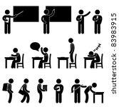 school teacher student class...   Shutterstock .eps vector #83983915