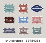 vintage frames | Shutterstock .eps vector #83984386