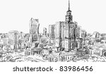 illustration sketch . street  ... | Shutterstock . vector #83986456