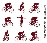 Cycling Silhouettes. Vector...