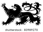 heraldic lion isolated on white ... | Shutterstock .eps vector #83989270
