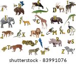 illustration with animal... | Shutterstock .eps vector #83991076