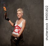 Punk Girl With A Molotov...