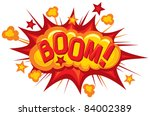 cartoon   boom  comic book... | Shutterstock .eps vector #84002389