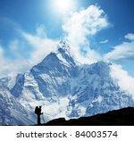 climber in himalayan mountain | Shutterstock . vector #84003574