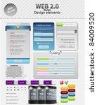 vector website forms | Shutterstock .eps vector #84009520