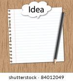 note paper with conceptual idea ...