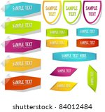 set of stickers tags and labels | Shutterstock .eps vector #84012484