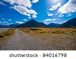 lonely road in south island nz...   Shutterstock . vector #84016798
