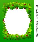 cheerful christmas frame or... | Shutterstock . vector #84019183
