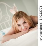 Beautiful sexy woman. Shallow DOF - stock photo