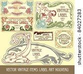 vector vintage items  label art ...   Shutterstock .eps vector #84027283
