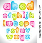 shiny trendy font | Shutterstock .eps vector #84029029