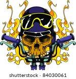 vector tattoo biker skull
