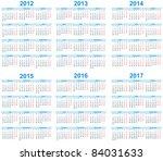 Calendar 2012  2013  2014  2015 ...