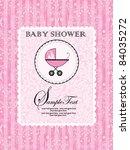 baby shower invitation   Shutterstock .eps vector #84035272
