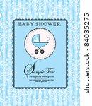 baby shower announcement | Shutterstock .eps vector #84035275