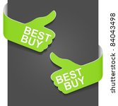 left and right side sign   best ... | Shutterstock .eps vector #84043498