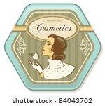 Retro Woman Vintage Cosmetics...