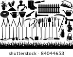 Illustration Of Gardening Tool...