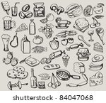 vector vintage hand drawn of... | Shutterstock .eps vector #84047068