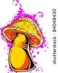 vector tattoo fungus | Shutterstock .eps vector #84048430