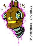 vector tattoo robot | Shutterstock .eps vector #84048631