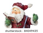 Santa Claus with book of wishes - New Year conceptual image - stock photo