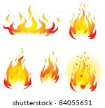 burning fires | Shutterstock .eps vector #84055651