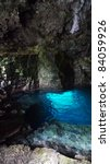 mysterious blue grotto | Shutterstock . vector #84059926
