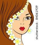 portrait of a beautiful woman... | Shutterstock .eps vector #84061939