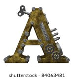 steampunk letter a on white... | Shutterstock . vector #84063481