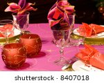 luxury table set of a dinner  ... | Shutterstock . vector #8407018