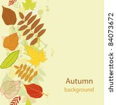 autumn beauty seamless... | Shutterstock .eps vector #84073672