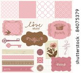 scrapbook design elements  ... | Shutterstock .eps vector #84075379