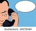pop art man talking on the phone | Shutterstock .eps vector #84078484