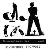 golfer silhouette.vector... | Shutterstock .eps vector #84079081