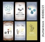 floral name card collection   Shutterstock .eps vector #84088225