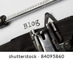 the word blog written with old... | Shutterstock . vector #84095860