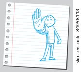 Sketchy Illustration Of A Man...